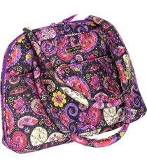 bolsa handbag tecido ombro  zãper espaã§osa casual roxo - roxo - feminino - dafiti