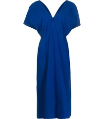 christian wijnants front gathered mid-length dress - blue