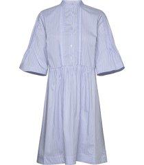 amanda stripe dress jurk knielengte blauw mos mosh