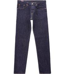 edwin 14 oz nihon menpu regular tapered jeans -   blue rinsed   i028865-3x