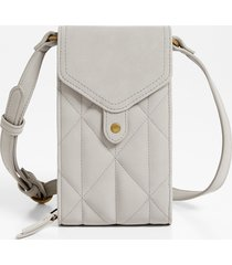 maurices womens light gray quilted crossbody bag