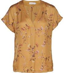 top in valley print w. v-neck blouses short-sleeved geel coster copenhagen