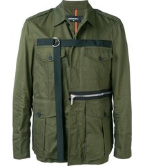 dsquared2 d-ring strap military jacket - green