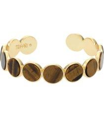 trifari women's tiger eye bangle bracelet