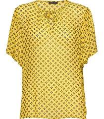 melie blouses short-sleeved geel stella nova