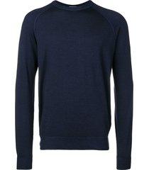 drumohr raglan sweater - blue