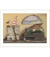 """trendy decor 4u beach cottage by pam britton, printed wall art, ready to hang, white frame, 10"""" x 14"""""""