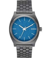 nixon unisex time teller gray stainless steel bracelet watch 37mm