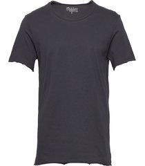 crew-neck relaxed t-shirt t-shirts short-sleeved blå bread & boxers