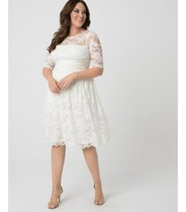 kiyonna women's plus size aurora lace wedding dress