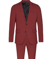 plain mens suit pak rood lindbergh