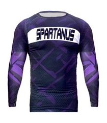 rash guard spartanus fightwear competion roxo