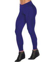 calça fitness dily modas legging recorte new zig 516 azul