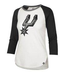 '47 brand san antonio spurs women's splitter raglan t-shirt