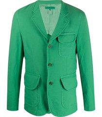 comme des garçons shirt flap pocket blazer - green
