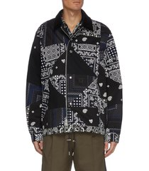 archive print patchwork coach jacket