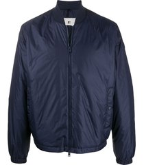 woolrich plain basic bomber jacket - blue