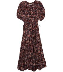 claribel dress in midnight floral