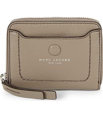 marc jacobs women's classic leather card case - black