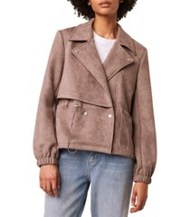 french connection dede faux suede jacket