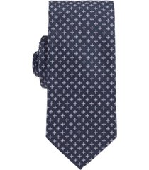 boss men's italian-made patterned tie