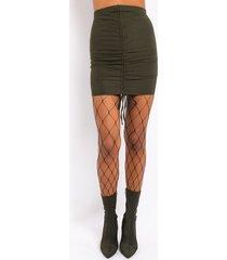 akira combating feelings stretch lace up mini skirt