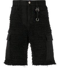 1017 alyx 9sm mid rise denim shorts - black