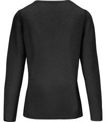 trui van scheerwol en kasjmier met ronde hals van include zwart
