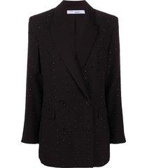 iro crystal-embellished blazer - black