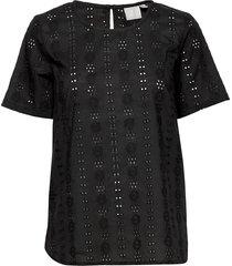 blouse-woven blouses short-sleeved svart brandtex