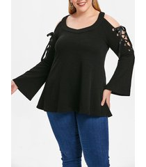 plus size open shoulder pullover sweater