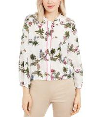 marella silk floral-print blouse