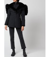 mackage women's akiva-bx hooded down jacket - black - l