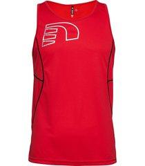 core coolskin singlet t-shirts sleeveless röd newline