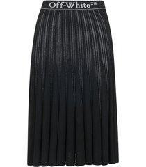off-white plisse logo skirt