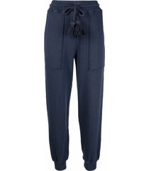 ulla johnson tassel-detail straight trousers - blue