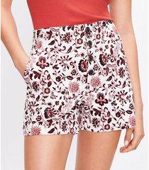 loft button front structured shorts