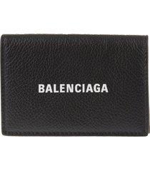 balenciaga man black cash mini wallet