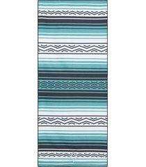 nomadix baja double-sided yoga mat towel aqua polyester/nylon
