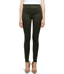 women's l'agence rochelle coated high waist pull-on skinny jeans, size small - green