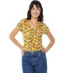 blusa amarillo-multicolor arkitect éxito