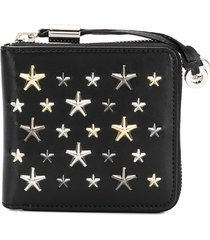 jimmy choo tessa star-studded wallet - black