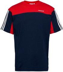 classics ss tee t-shirts short-sleeved blå adidas originals