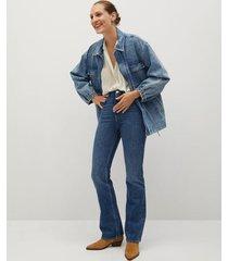 gestreepte semitransparante blouse