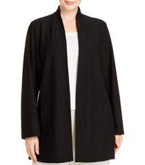 eileen fisher system plus size stand-collar jacket