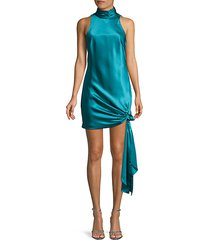denise knotted silk dress