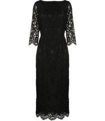 a.n.g.e.l.o. vintage cult 1990s boat neck lace dress - black