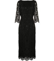 a.n.g.e.l.o. vintage cult 1990s boat neck lace dress - black
