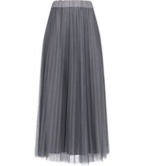 parosh pleated midi skirt