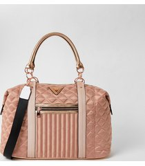 river island womens pink quilted cross body weekend bag